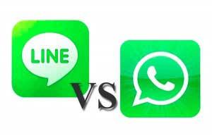 espiar Line vs Wasap messenger